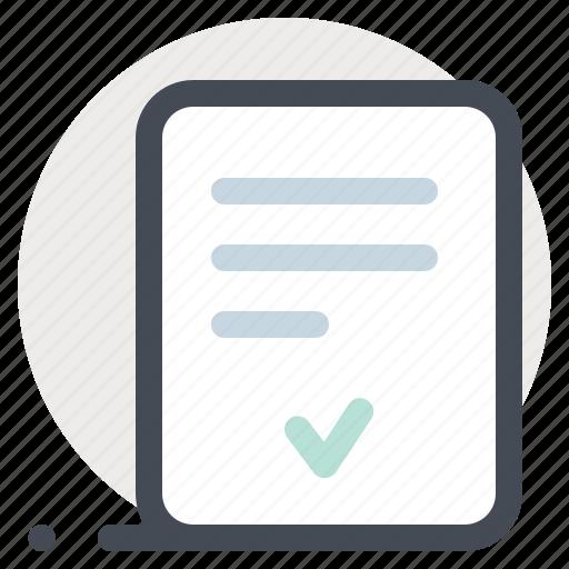 accept, building, construction, paper, plan, repair, verified icon