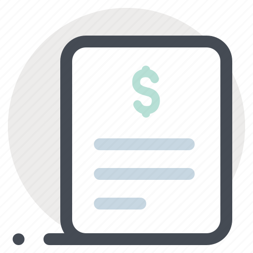 bill, building, construction, dollar, payment, receipt, renovation icon
