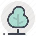 building, garden, greenery, home, nature, planet, tree icon