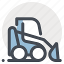construction, crawler, heavy, heavy equipment, machine, machinery, tractor icon