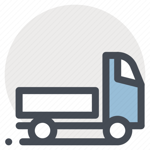 building, construction, delivery, goods, transportation, travel, truck icon