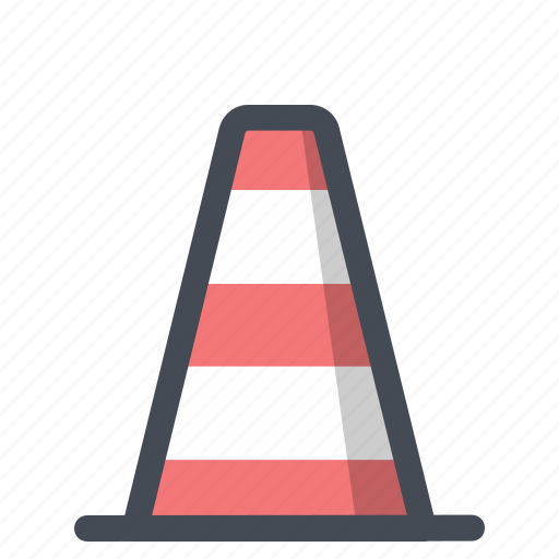 bumper, construction, control, protection, road blocker, sign, work in progress icon