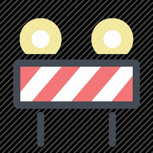 construction, road blocker, sign, signal, tool, warning, work in progress icon