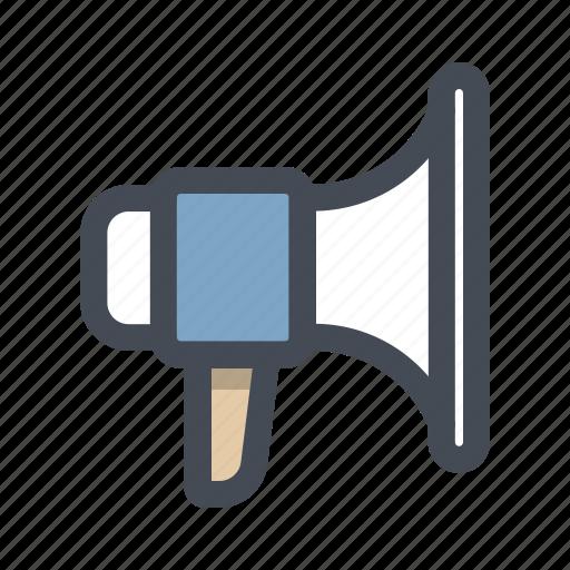 announce, building, construction, megaphone, promotion, sound, speaker icon