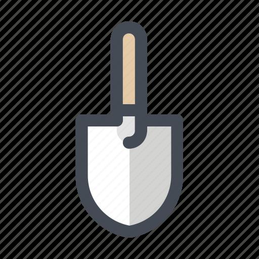 building, construction, hand tool, paint, repair, scraper, shovel icon