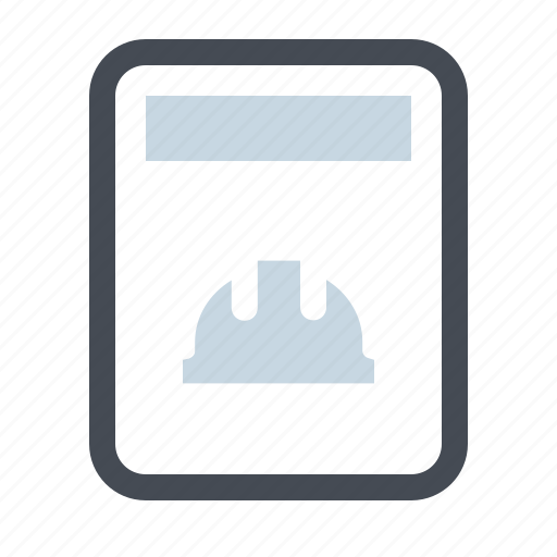 Building, builder, construction, profile, report, work, degree icon - Download