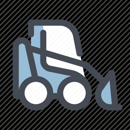 Construction, heavy, machine, machinery, heavy equipment, tractor, crawler icon