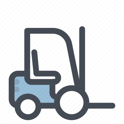 construction, forklift, heavy, heavy equipment, machine, machinery, work icon