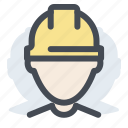 avatar, builder, construction, manager, professional, profile, worker icon