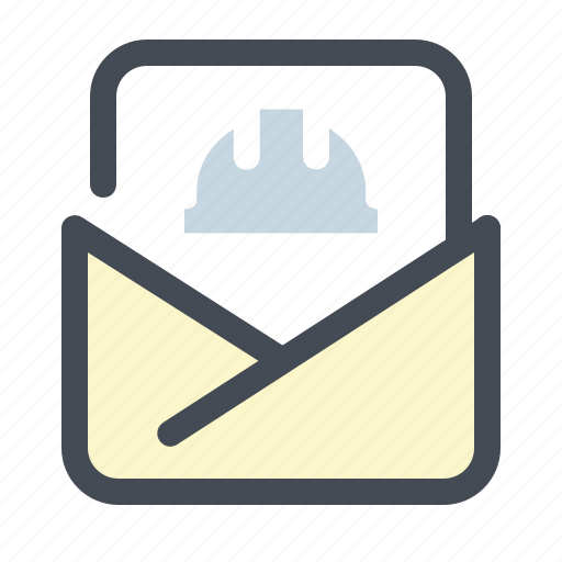 builder, building, construction, job, letter, mail, work icon