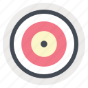 aim, arrow, bullseye, medicine, purpose, strategy, target icon
