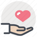 doctor, hand, healing, heart, life, patient, treatment icon