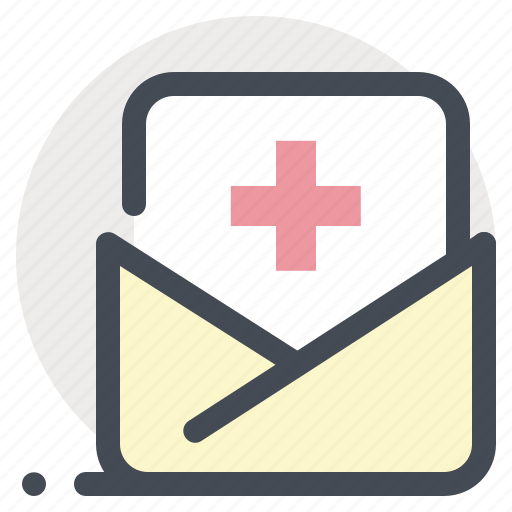 clinic, documents, files, hospital, letter, mail, patient icon