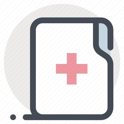 clinic, documents, files, folder, hospital, medical card, medical history icon