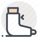 emergency, fracture, gypsum, plaster, room, trauma, treatment icon