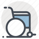 clinic, disability, handicap, hospital, medicine, rehabilitation, wheelchair icon