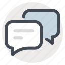 bubble, chat, chatting, comment, communication, message, talk icon