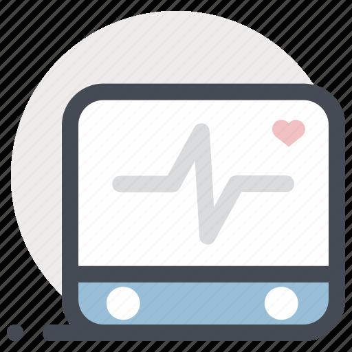 cardiogram, ecg, ekg, heart beat, medicine, monitor, pulse icon