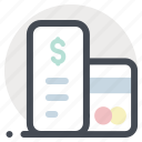 bank card, bill payment, card, check, finance, money, payment icon