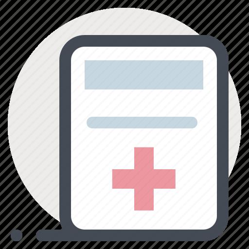 clinic, documents, files, hospital, medical conclusion, patient, prescription icon