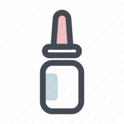 dropper, first aid, health, healthcare, medicine, spray, stuffy nose icon