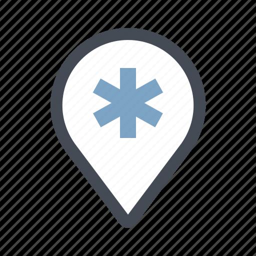 care, health, hospital, location, medicine, patient, place icon