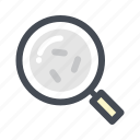 bacteria, disease, germs, magnifier, research, search disease, study icon