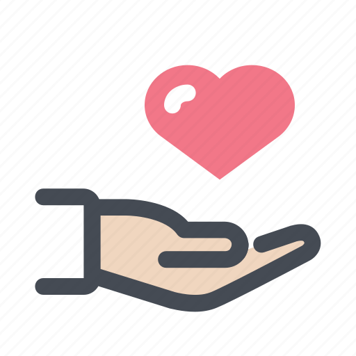care, doctor, hand, healing, heart, patient, treatment icon