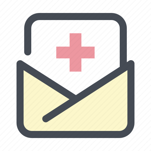 clinic, documents, files, hospital, letter, mail, pacient icon