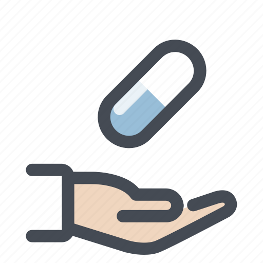 cure, doctor, hand, patient, pharmacy, tablets, treatment icon