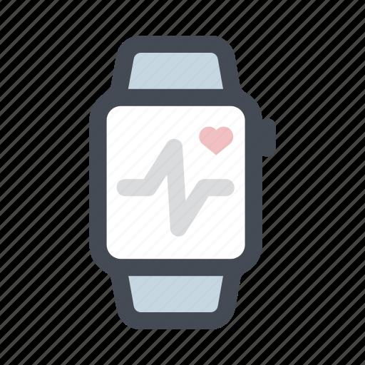 care, health, heartbeat, hospital, medicine, tracking, watch icon