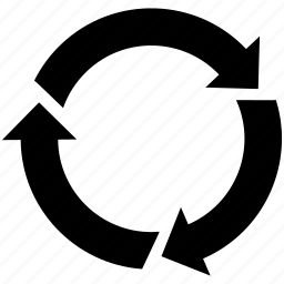 arrow, direction, revolve, rotate, sync icon