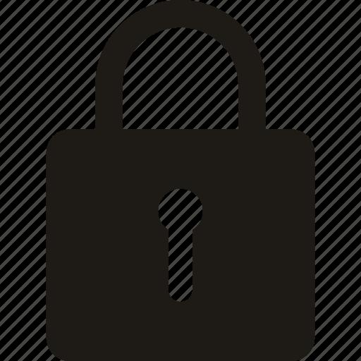 lock, lock locked, locked, padlock, safe icon