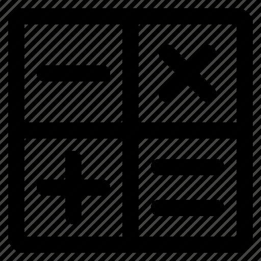 calculator, interface, math, media, user icon