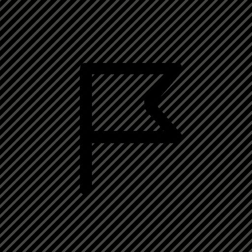 flag, location, marker, pin icon