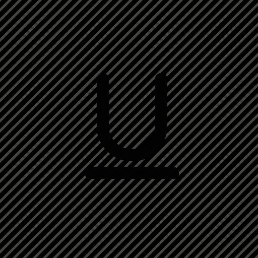 Underline, document, format, text icon - Download on Iconfinder