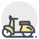 meeting, passion, romantic, scooter, sweet day, valentine, vehicle icon