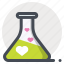 chemistry, flask, heart, lovers, meeting, romantic, valentine icon