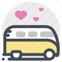 car, hearts, lovers, meeting, passion, sex, valentine's day icon
