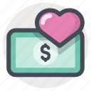 heart, love, love for many, money, passion, sex for money, valentine's day icon
