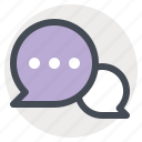 bubble, chat, letter, message, talk, text, valentine icon