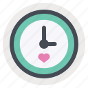 clock, love, meeting, romantic, time, valentine, valentine's day icon