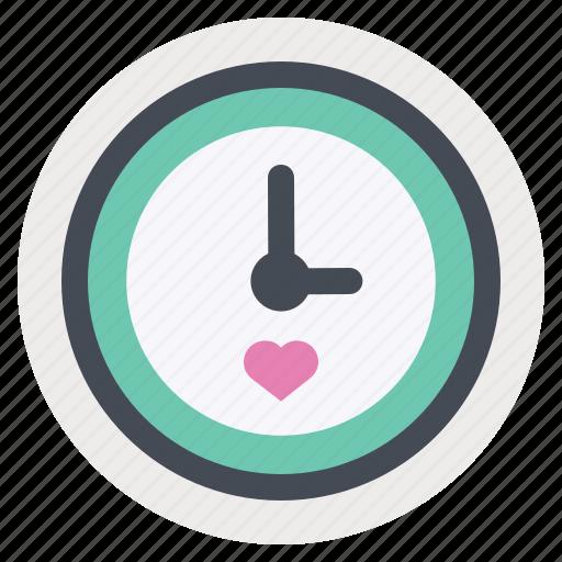 clock, love, meeting, romantic, time, valentine, valentine's day icon