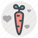 carrot, love, meeting, passion, sex, strong, valentine's day icon