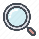 love, lovers, magnifier, romance, search, valentine, valentine's day icon