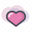 a gift of fate, favorite, heart, love, lovelike, romantic, valentine icon