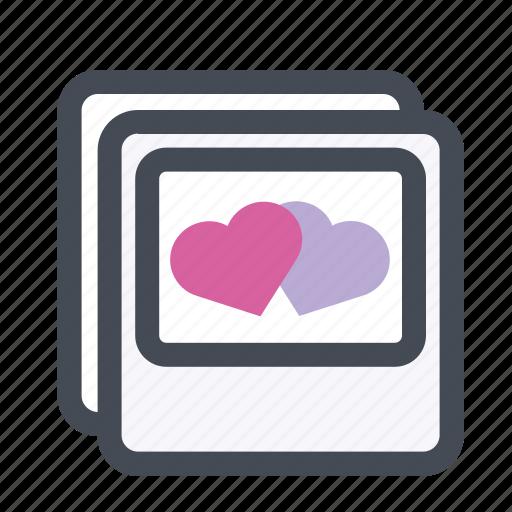 heart, love, lovers, meeting, photo frame, valentine, valentine's day icon