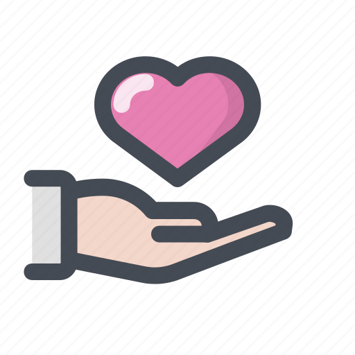 care, heart, love, lovers, meeting, passion, valentine's day icon
