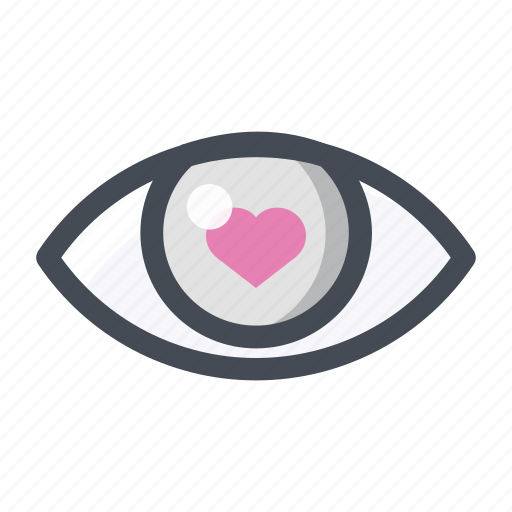 eye, first sight, heart, like, love, lovers, see icon