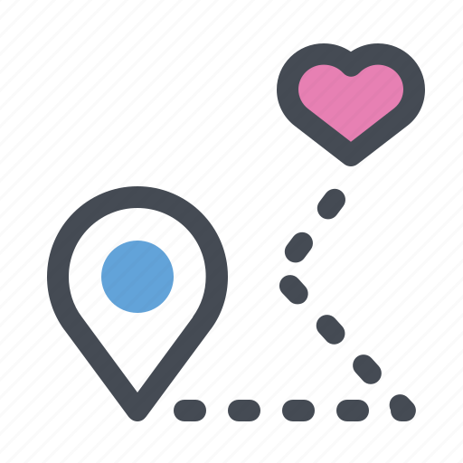 a gift of fate, dating, location, love, meeting, passion, valentine's day icon